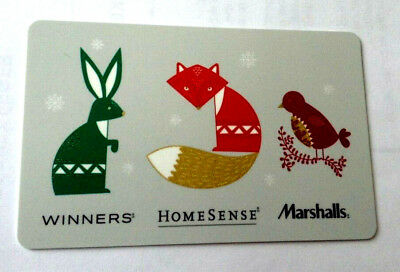 Limited Edition HOMESENSE WINNERS MARSHALLS Gift Card 2016 New No Value