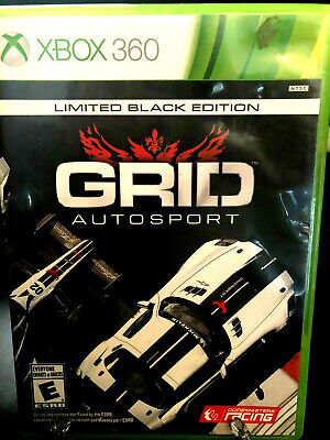 XBOX360 GRID Autosport Limited Black Ed Replacement Case NO GAME INCLUDED !