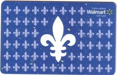 2x WALMART QUEBEC MINT GIFT CARD FROM CANADA BILINGUAL NO VALUE x2 free shipping