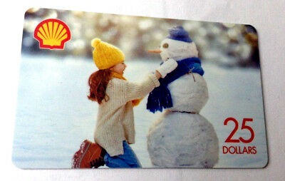 SHELL GAS STATION CANADA 2016 COLLECTIBLE SNOWMAN Gift Card New No Value---0---