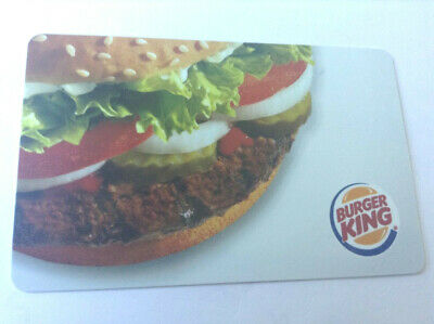 Burger King Restaurant 2011 Mint Gift Card Rechargeable !