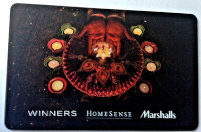 Winners Marshalls HOMESENSE CARD FROM CANADA BILINGUAL NO VALUE RECHARGEABLE !