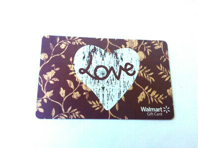 """WALMART GIFT CARD """" LOVE """" No Value COLLECTIBLE RECHARGEABLE 0 BALANCE"""
