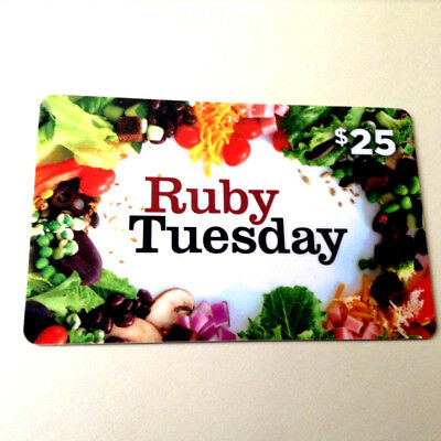 Ruby Tuesday Restaurant Gift Card No Cash Value Collectible RECHARGEABLE