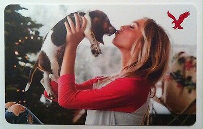 2016 American Eagle outfitters KISSING DOG COLLECTIBLE Gift Card New No Value