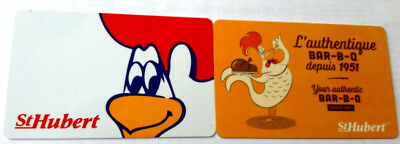 2x ST-HUBERT RESTAURANT Limited Ed COLLECTIBLE Gift Card No Value RECHARGEABLE!