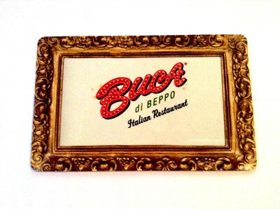 """BUCA DI BEPPO GIFT CARD """"PICTURE FRAME"""" NEW NO VALUE MINT ---0---balance"""