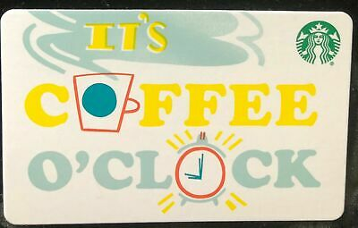 NEW STARBUCKS It's Coffee O'Clock 2018 GIFT CARD RECHARGEABLE BILINGUAL !