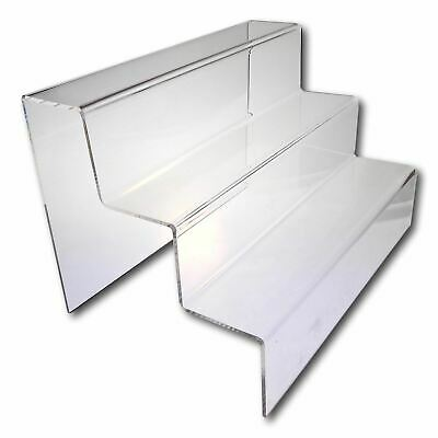 3 Step Counter Stand - Large WIDE - Clear - Pack of 10