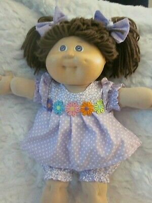 CPK doll clothes//16-18 inch//yellow//pink cotton dress//bloomers//handmade