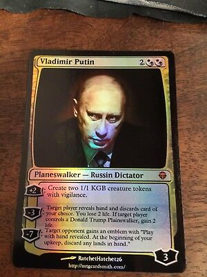 Vladimir Putin Magic The Gathering MTG card Planeswalker President Russian