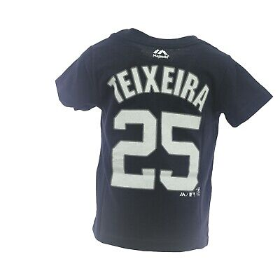 New York Yankees MLB Majestic Infant Toddler Size Mark Teixeira T-Shirt New Tags