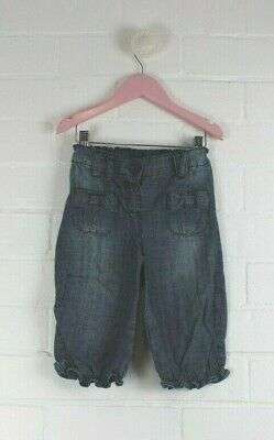 NEXT Girls Light Denim Jeans Soft Harem Style Straight Leg Size 2-3 years 98cm