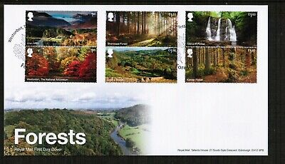 Great Britain 13th August 2019 Forests First Day Cover with Pictorial Postmark