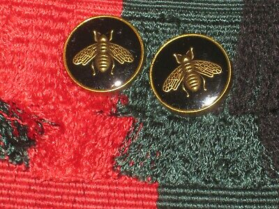 100% Gucci 🌺 2 buttons  BLACK COLOR  brass BEE 16 mm  lot 2 ❤️ ADORABLE