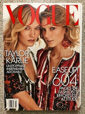 Vogue Magazine March 2015 Taylor Swift And Karlie Kloss Cover 604