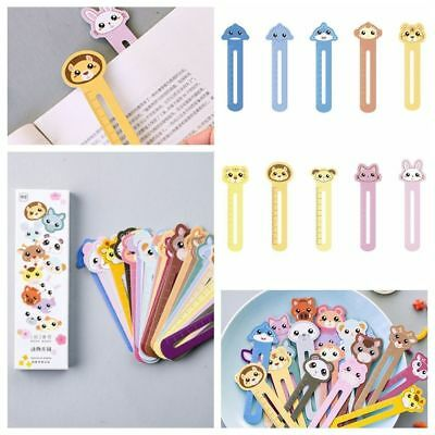 30Pcs Cute Animal Paper Bookmarks Book Holder Kids Stationery School Supplies