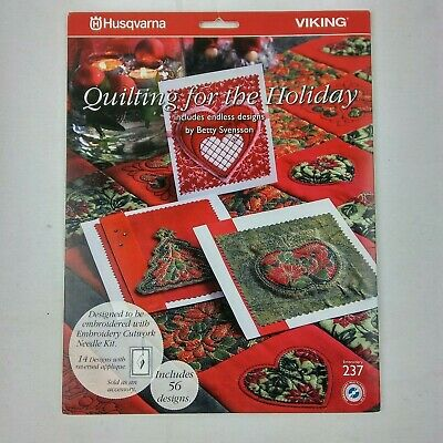 Husqvarna Viking Embroidery Design CD Quilting for the Holiday 237 920317096 B11