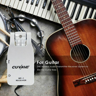 2.4GHz Wireless Guitar System Transmitter & Receiver Built-in Rechargeable new!