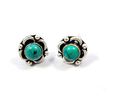 Turquoise .925 Silver Plated Handmade Stud Earring Jewelry JC8180