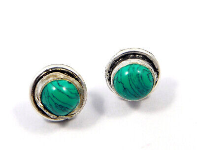 Turquoise .925 Silver Plated Handmade Stud Earring Jewelry JC8154