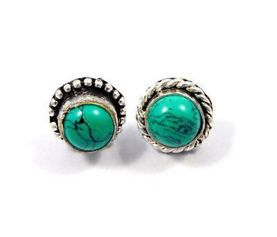 Turquoise .925 Silver Plated Handmade Stud Earring Jewelry JC8182