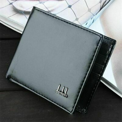 Men's Black Business Leather Wallet Card Holder Clutch Bifold Slim Purse Pocket
