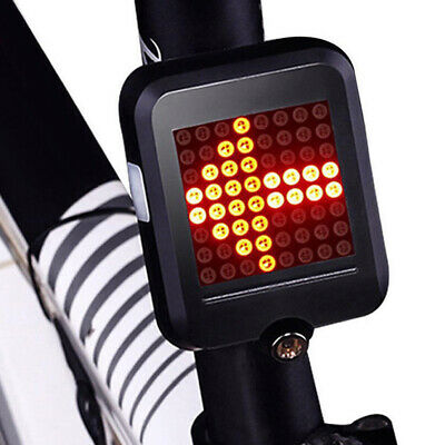 USB Charging LED Bicycle Turn Signal Warning Tail Light For Night Safe Riding