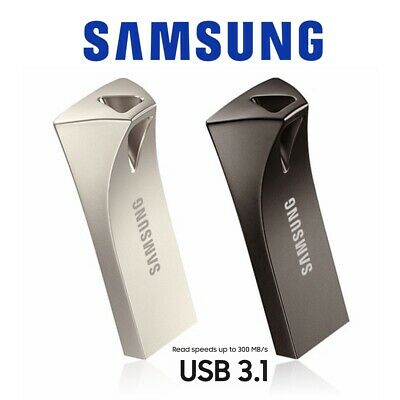 USB 3.1 Flash Drive 32G 64G 128G 256G Samsung Bar Plus USB Memory 200Mb/300Mb