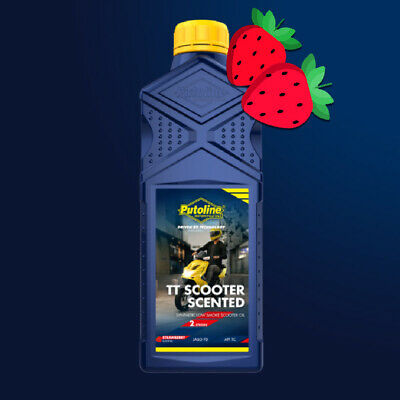 1L ROCK OIL Strawberry Scented Synthetic Motorcycle Scooter
