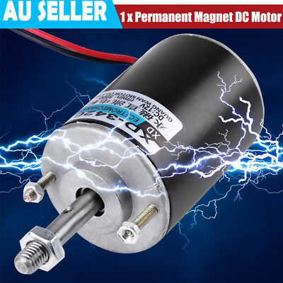 12/24V 30W Permanent Magnet DC Motor High Speed CW/CCW For DIY Generator AU Sell