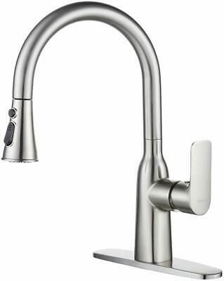 American Standard Pull Down Kitchen Faucet Brushed Nickel 1 Hole Stainless Steel