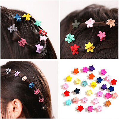 30 PCS Baby Girls Mini Claw Hairpin Small Cute Flowers Gripper Plastic Hair Clip