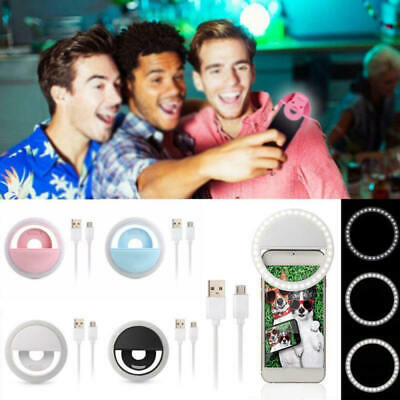 USB Rechargeable Ring Flash-Fill Selfie LED Light Photography Camera GAE