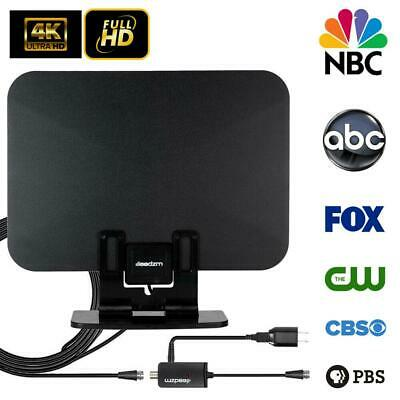 250 Mile Range TV Antenna Digital HD Amplified Antena Digital HDTV 4K with Stand