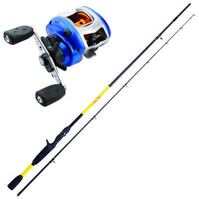 KP3805 Kit Casting Canna Pesca Herakles Youth 1,85 m + Mulinello Blue MAX FEU