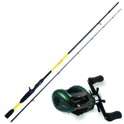 KP3804 Kit Casting Canna Pesca Herakles Youth 1,85 m + Mulinello Colorado  FEU