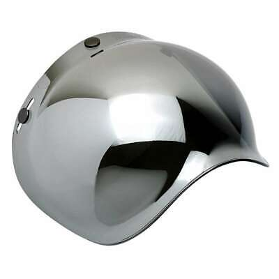 Biltwell Anti-Fog Bubble Visor Shield - Chrome Mirror