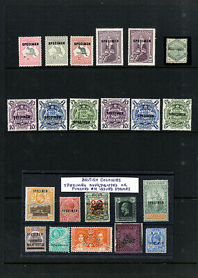 British Colonies 1800s to Early 1900s Specimen Overprint Stamp Collection
