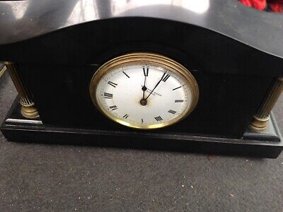 Vintag Mantle Clock Heavy Slate  Or Marble Whytock & Sons  Dundee Made In Franc