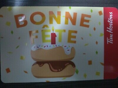 Collectable Tim Hortons Bonne Fete Gift Card #Fd65948 ..No Monatary Value