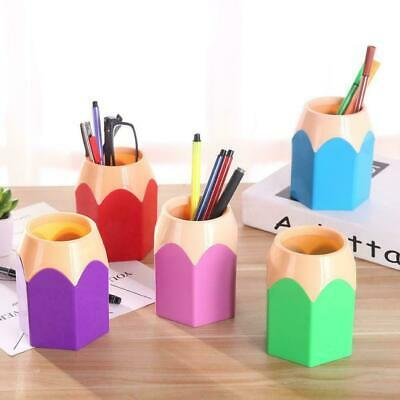 Creative Pencil Vase Pen Pot Holder Stationery Desk Tidy Container Office S W9F3
