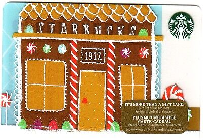 New Starbucks 2016 1912 Gift Card Rechargeable Bilingual !