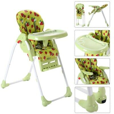 Adjustable Baby High Chair Infant Child Toddler Feeding Booster Seat Folding US
