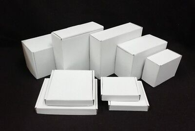 Postal Small Shipping Cardboard Boxes Single Wall White Outer *Multi Listing*