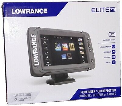 LOWRANCE ELITE-7 TI GPS Touchscreen CHIRP & TotalScan Transducer + CMAP PRO