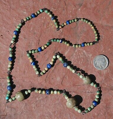 Pre-Columbian ~ TURQUOISE / LAPIS ~ Pre-Colombian NECKLACE ~ NR