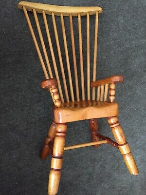 Vintage Pine High Back Chair - Suitable for small Child, Doll or Teddy Bear