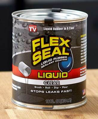 NEW FLEX SEAL Rubber Liquid Sealant Coating 16 OZ Ounce Cans CLEAR