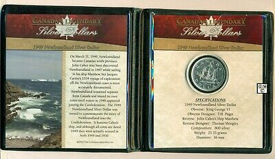 First Commemorative Mint - Canadian 1949 Newfoundland Silver Dollar Coin (OOAK)